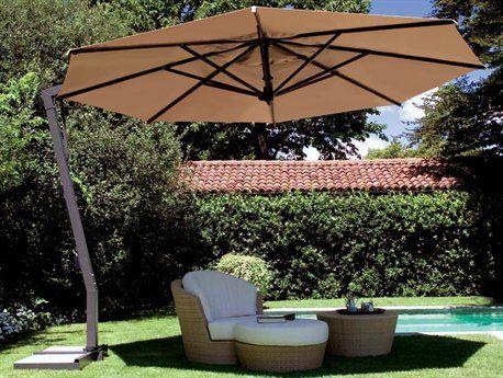 fim p series 13 octagon cantilever patio umbrella