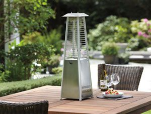 Glass Tower Stainless Steel Tabletop Outdoor Patio Heater