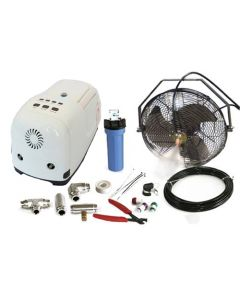 "14"" High Pressure Misting Fan Kits w/1000 PSI Remote Control Pump"