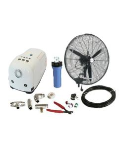 "26"" (Oscillating) High Pressure Misting Fan Kits w/1000 PSI Remote Control Pump"
