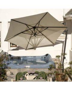 FIM  C-Series 10.5' Hexagon Cantilever Patio Umbrella