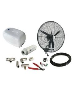 "26"" Oscillating Misting Fan Kit - Mid Pressure"