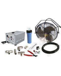 """18"""" High Pressure Misting Fan Kits w/1000 PSI Remote Control Pump"""