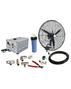 "26"" (Oscillating) High Pressure Misting Fan Kits w/1000 PSI Remote Control Pump"
