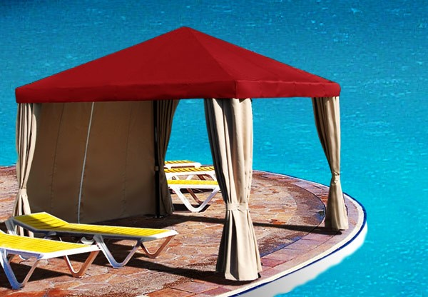 Cool Off in Your Very Own Cabana or Keep Your Guests Cool Under a Shade Sail