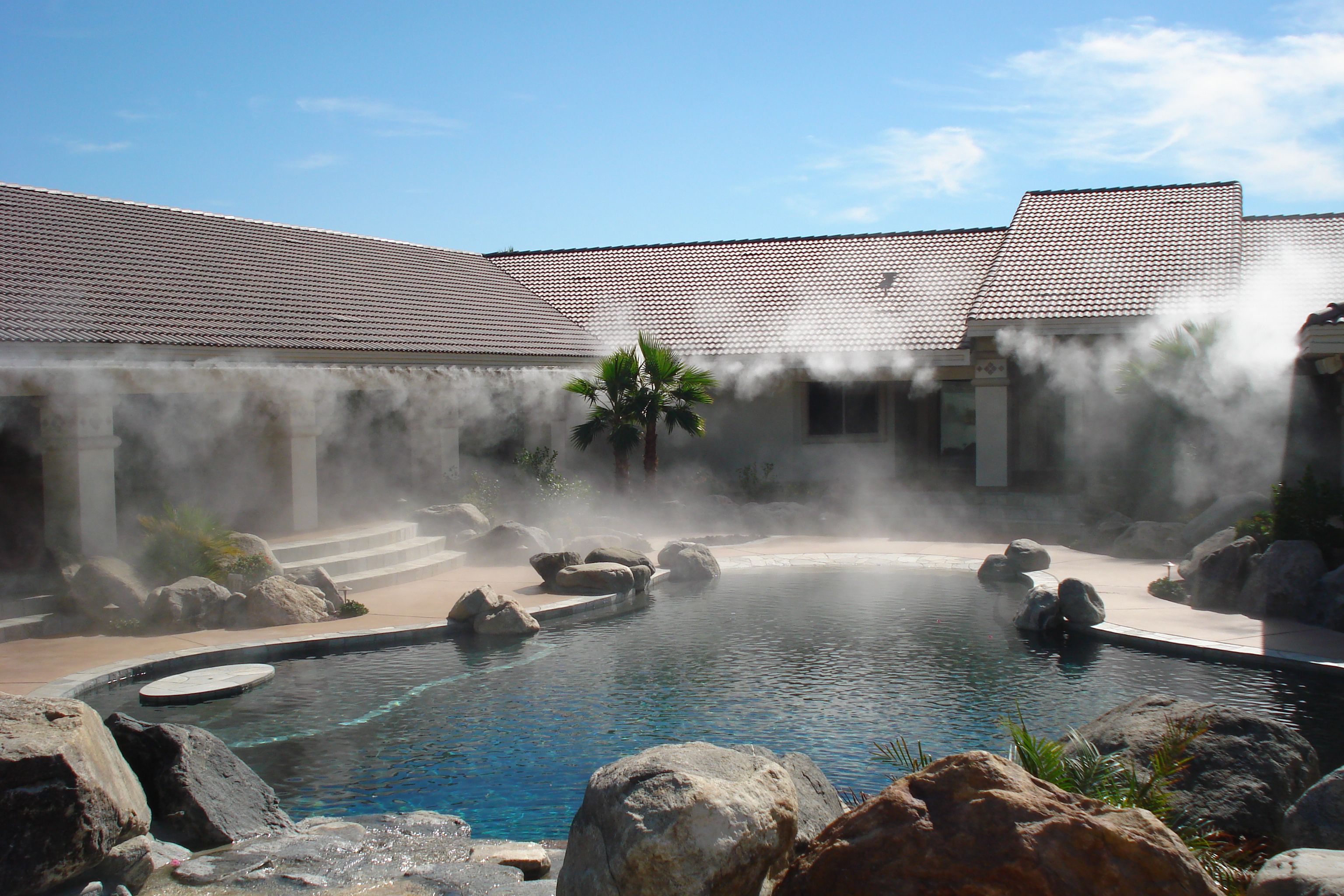 A Fogging or Cooling System Can Help You Make the Most of Your Private or Commercial Oasis
