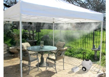 portable misting tent