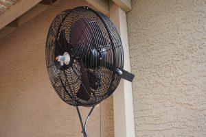 black-misting-fan-outside