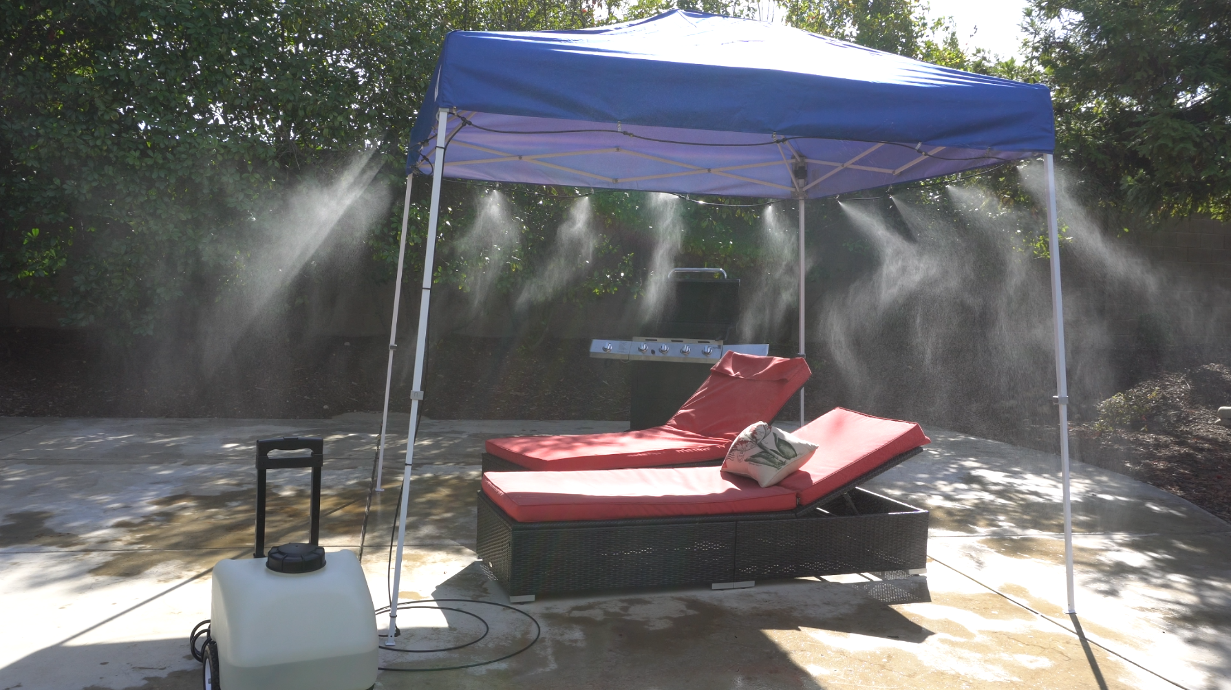 Misting Tents Make Summer Landscaping Survivable