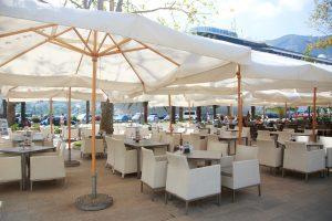 patio umbrellas resort cabana misting